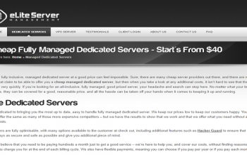 Dedicated Fully Managed Low-Cost Linux Servers