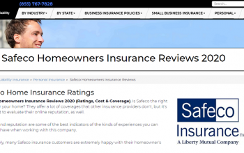 Safeco Insurance Review 2020